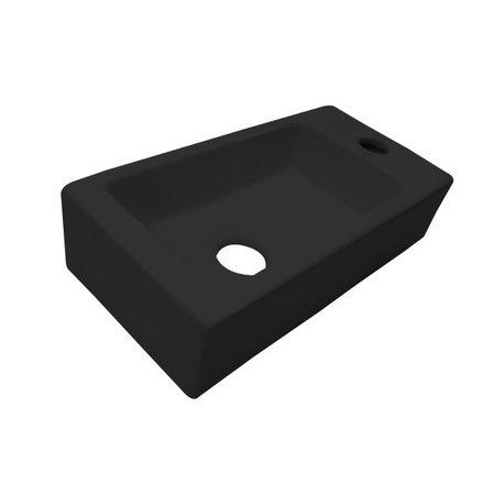 """Best-design Best-Design """"Farnetta"""" fontein Rechts 37x18x9cm mat-zwart"""