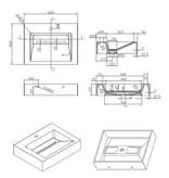 """Best-design Best-Design """"Indoor"""" wastafel """"Just-Solid"""" 60x46x13cm"""