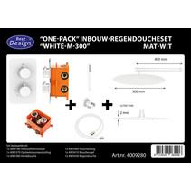 """Best-Design """"One-Pack"""" inbouw-regendoucheset """"White-M-300"""""""