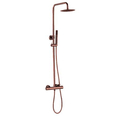 "Best-design Best-Design ""Lyon"" thermostatische regendouche-opbouwset rosé-mat-goud"