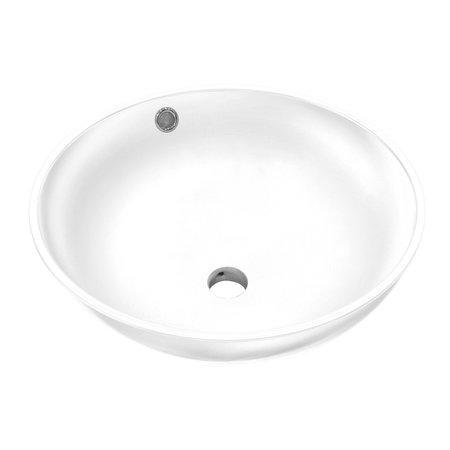 "Best-design Best-Design ""Ancona"" opbouw-waskom mat-wit Ø=38cm H=16cm"