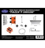 "Best-design Best-Design ""One pack"" inbouw-regendoucheset & Inb.box ""Piazza vierkant P-200x200"""