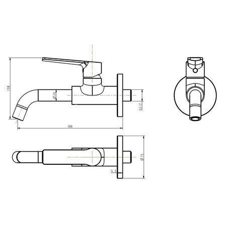"Best-design Best-Design ""Pira"" wand toiletkraan"