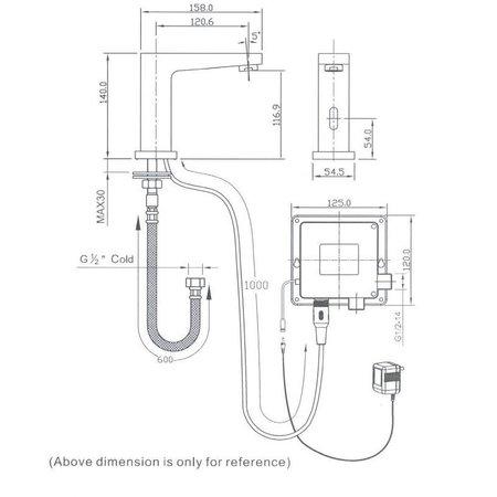 """Best-design Best-Design """"Sensor"""" toiletkraan (koud) type SE12"""