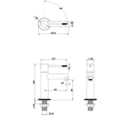 "Best-design Best-Design ""Nero-Ribera"" Toiletkraan mat-zwart"
