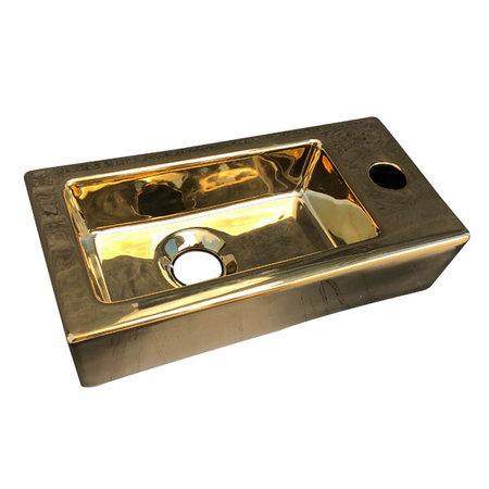 """Best-design Best-Design """"Farnetta"""" fontein Rechts 37x18x9cm glans-goud"""