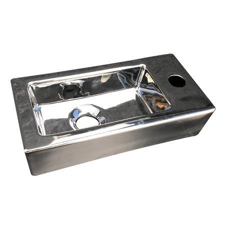 """Best-design Best-Design """"Farnetta"""" fontein Rechts 37x18x9cm glans-zilver"""