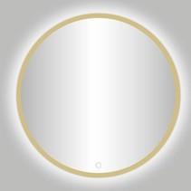"Best-Design Nancy ""Rivoli"" ronde spiegel mat-goud incl.led verlichting Ø 140 cm"