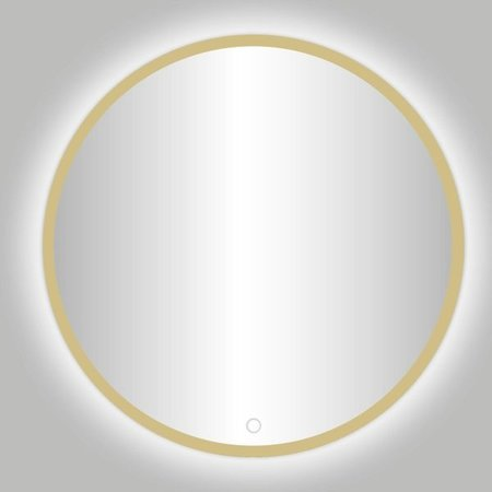 "Best-design Best-Design Nancy ""Rivoli"" ronde spiegel mat-goud incl.led verlichting Ø 140 cm"