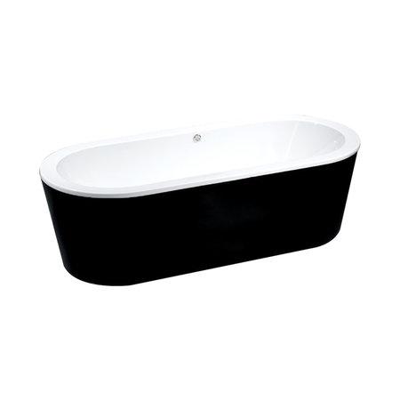 """Best-design Best-Design """"Black & White"""" vrijstaand bad 178x80x55cm"""