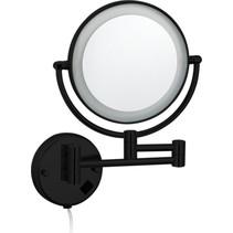 """Best-Design """"Black-Steiner"""" wand cosmeticaspiegel incl. LED verlichting """"Nero"""" mat-zwart"""
