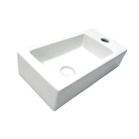 "Best-design Best-Design ""Farnetta"" fontein Rechts 37x18x9cm mat-wit"