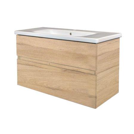 """Best-design Best-Design """"Quick-Greeploos-Oceanic"""" meubel onderkast + wastafel 80 cm"""