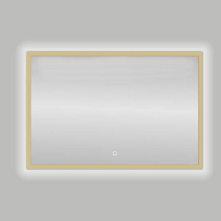 "Best-design Best-Design Nancy ""Isola"" Mat-Goud LED spiegel B=80 x H=60cm"
