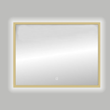 "Best-design Best-Design Nancy ""Isola"" Mat-Goud LED spiegel B=120 x H=80cm"