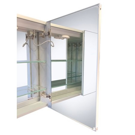 "Best-design Best-Design ""Aluma"" luxe spiegelkast incl. LED verlichting 60x80cm"