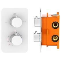 """Best-Design """"White"""" inbouwthermostaat & inb.box 2-weg 1/2"""" mat-wit"""