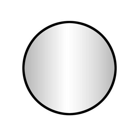 """Best-design Best-Design """"Goslar-Nero"""" ronde spiegel Ø 60 cm"""