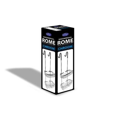 "Best-design Best-Design ""Rome-Steinhof-Chroom"" ophangrek (doucheregaal)"
