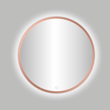 "Best-design Best-Design Lyon ""Venetië-Thin"" ronde spiegel Rose-Mat-Goud incl.led verlichting Ø 80 cm"