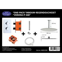 """Best-Design """"One-Pack"""" inbouw-regendoucheset """"Verona-P-300"""""""