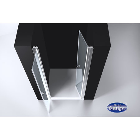 "Best-design Best-Design ""Erico"" pendeldeur met profiel 86-89cm H=200cm NANO glas 6mm"