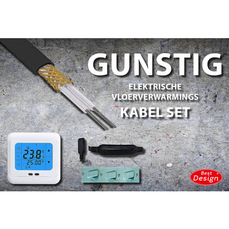 "Best-design Best-Design ""Gunstig"" vloerverwarmings kabel set 22,5 mtr 450 Watt (4,5 m2)"