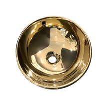 "Best-Design ""Ancona"" opbouw-waskom glans-goud Ø=38cm H=16cm"