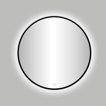 """Best-design Best-Design Nero """"Venetië"""" ronde spiegel zwart incl.led verlichting Ø 80 cm"""