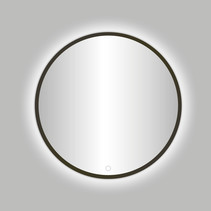 "Best-Design Moya ""Venetië-Thin"" ronde spiegel Gunmetal incl.led verlichting Ø 60 cm"