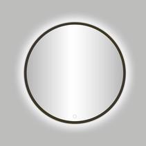 "Best-Design Moya ""Venetië-Thin"" ronde spiegel Gunmetal incl.led verlichting Ø 80 cm"
