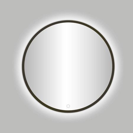 """Best-design Best-Design Moya """"Venetië-Thin"""" ronde spiegel Gunmetal incl.led verlichting Ø 80 cm"""