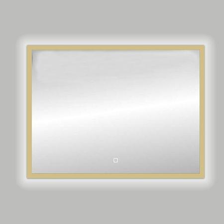 "Best-design Best-Design Nancy ""Isola"" Mat-Goud LED spiegel B=100 x H=80cm"