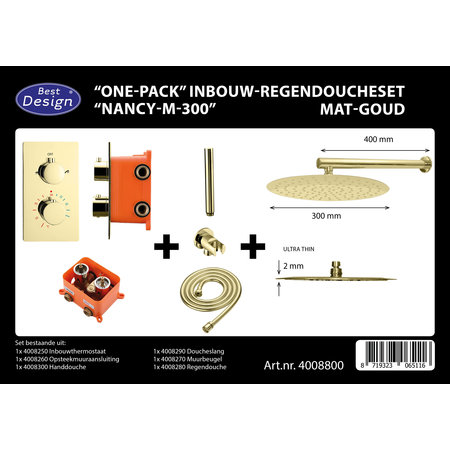 "Best-design Best-Design ""One-Pack"" inbouw-regendoucheset ""Nancy-M-300"""