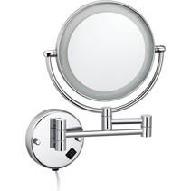 """Best-Design """"Steiner"""" wand cosmeticaspiegel incl. LED verlichting chroom"""