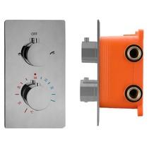 """Best-Design """"Ore-Garand"""" inbouwthermostaat & inb.box 2-weg 1/2"""" RVS-304"""