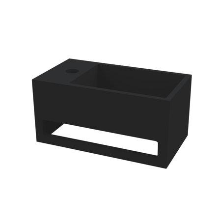 "Best-design Best-Design ""Mona-Black-Links"" fontein incl.handdoekhouder ""Just-Solid"" 33x18x16cm"