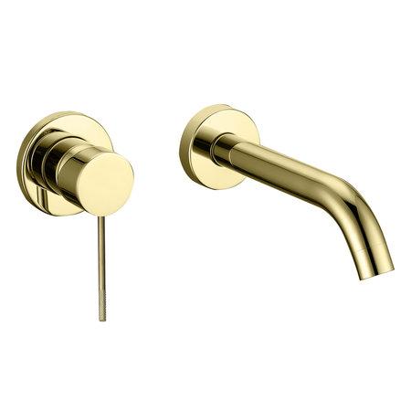 """Best-design Best-Design """"Nancy-Decorata"""" inbouw-wandmengkraan uitl=20cm mat-goud"""