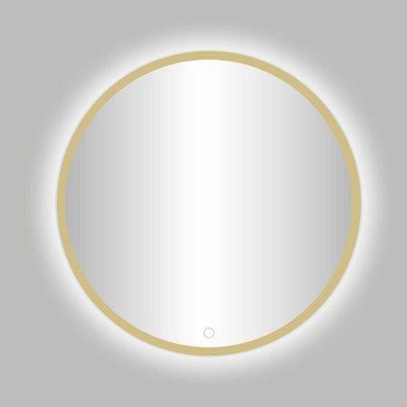 "Best-design Best-Design Nancy ""Rivoli"" ronde spiegel mat-goud incl.led verlichting Ø 120 cm"