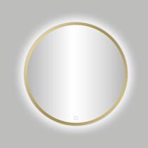"Best-Design Nancy ""Venetië-Thin"" ronde spiegel Mat-Goud incl.led verlichting Ø 80 cm"