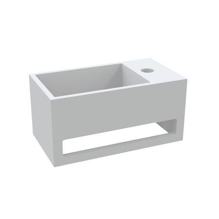 """Best-design Best-Design """"Mona-Rechts"""" fontein incl.handdoekhouder """"Just-Solid"""" 33x18x16cm"""