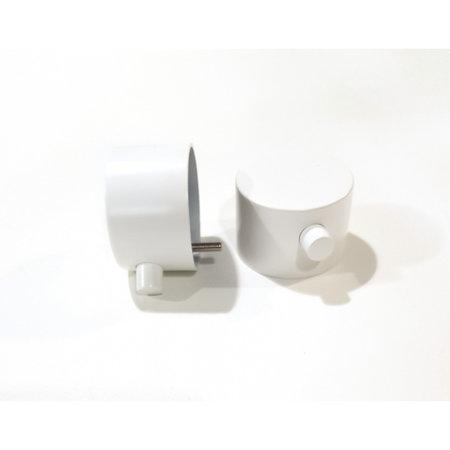 """Best-design Best-Design paar bedieningsknop Mat-Wit thermostatisch/omstel tbv.""""White"""" Art.4009180"""