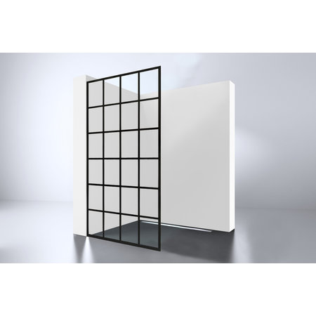"Best-design Best-Design ""Black 900 screen"" inloopdouche Walk-In 900x2000x10mm"