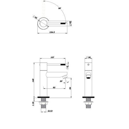 "Best-design Best-Design ""Ore-Ribera"" Toiletkraan RVS-304"