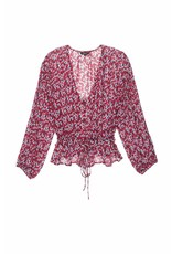 RAILS BEAUX RED FLORAL BLOUSE