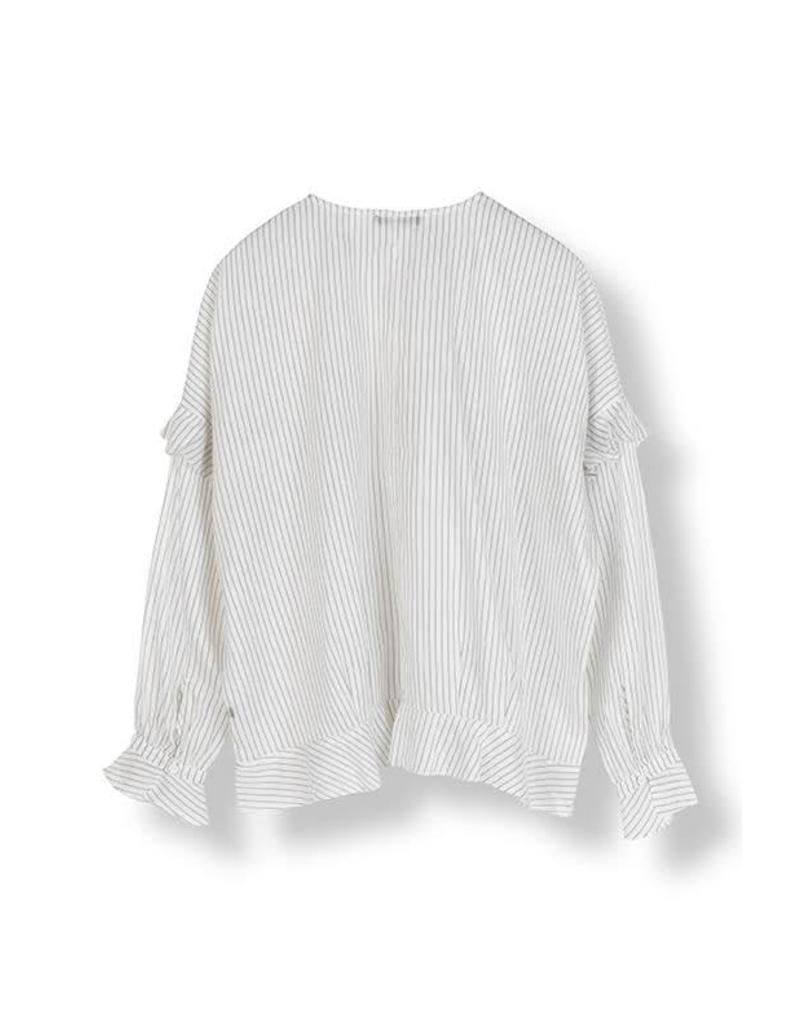 STELLA NOVA SILKY STRIPES BLOUSE
