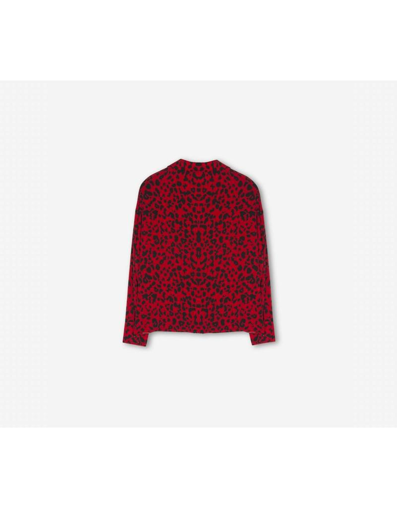 ALIX THE LABEL BLOUSE RED LEOPARD