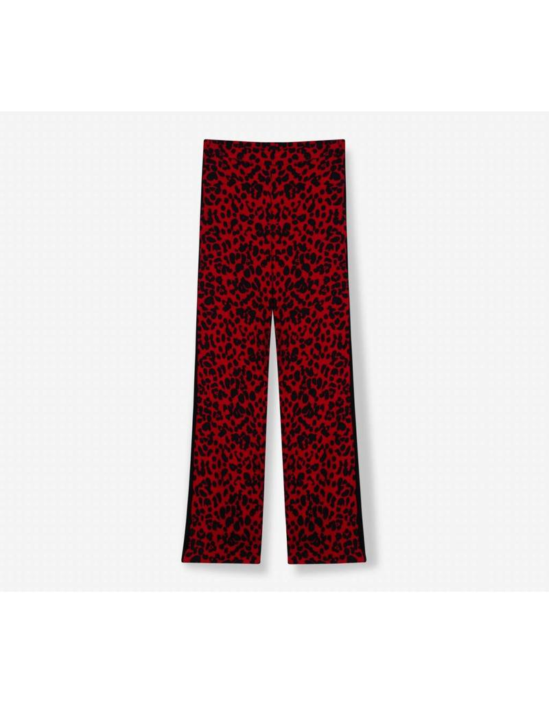 ALIX THE LABEL PANTS RED LEOPARD
