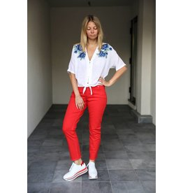 2ND ONE NOORA 870 RAW INDIE RED JEANS