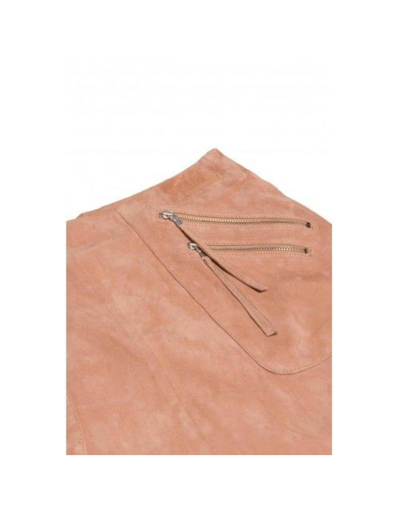 SLOANE SQUARE SKIRT SUEDE PINK